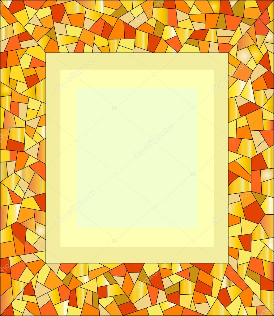 Amber-Mosaik-Rahmen für Foto — Stockvektor © skef1964 #82697556