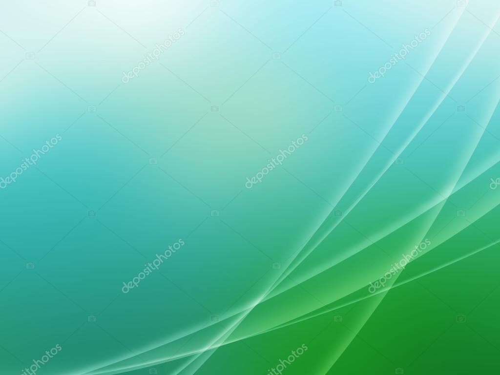 Fondo Azul De La Onda De Abstracto Verde
