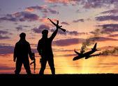 Silueta teroristů a vyhodit letadlo