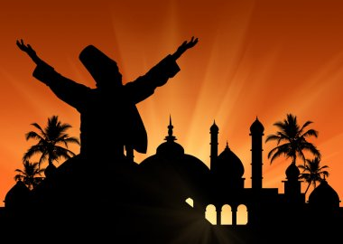 Silhouette  Dancing Dervishes