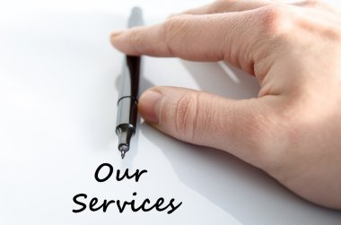 Our services text concept