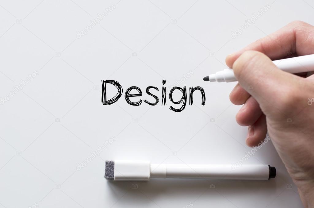 Design Whiteboard | Design Geschrieben Am Whiteboard Stockfoto C Petenceto 109978350