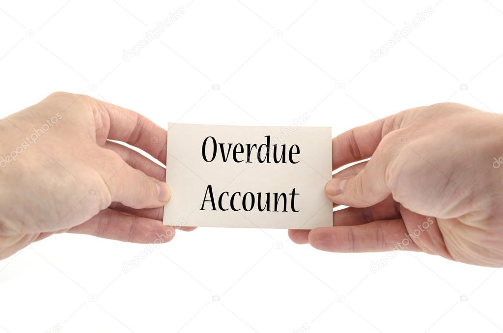 overdue account text concept stock photo
