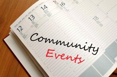 Community events concept
