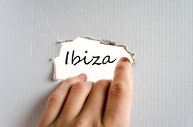 Ibiza text concept