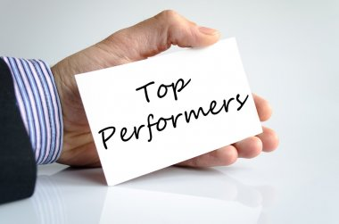 Top performers text concept