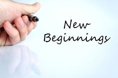 New beginnings text concept