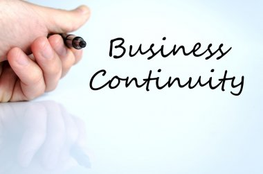 Business continuity text concept