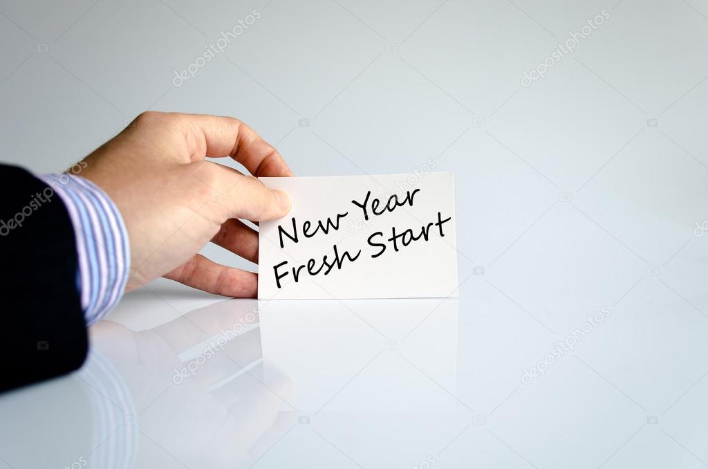 New year fresh start text concept — Stock Photo © Petenceto #86059146