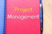 Fotografie Projekt řízení zápis na notebook