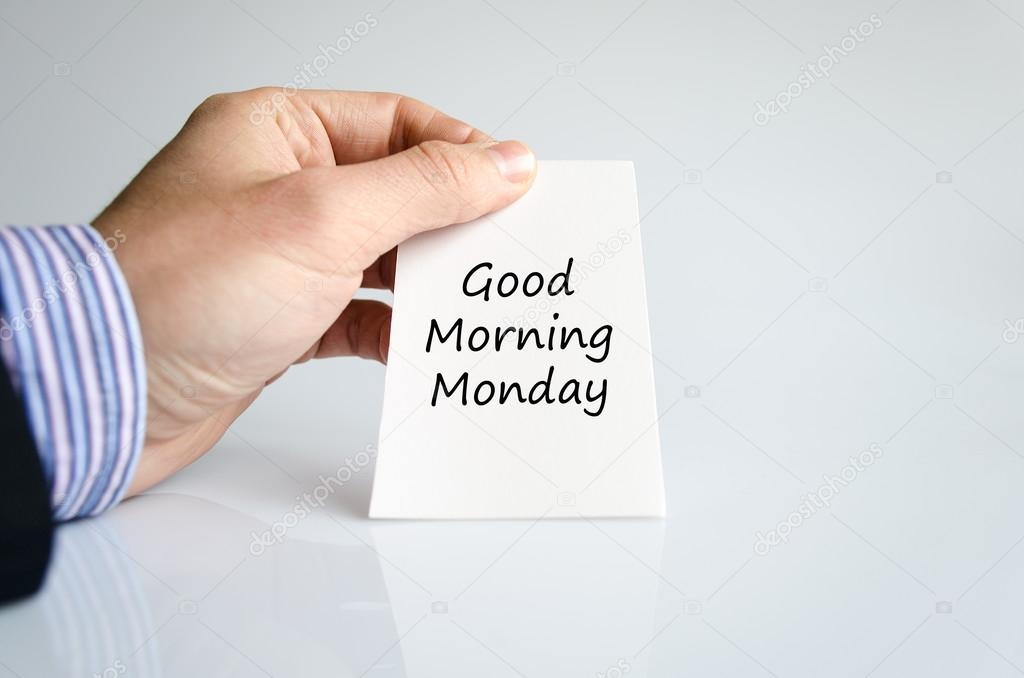 Dzień Dobry Poniedziałek Tekst Koncepcja Zdjęcie Stockowe