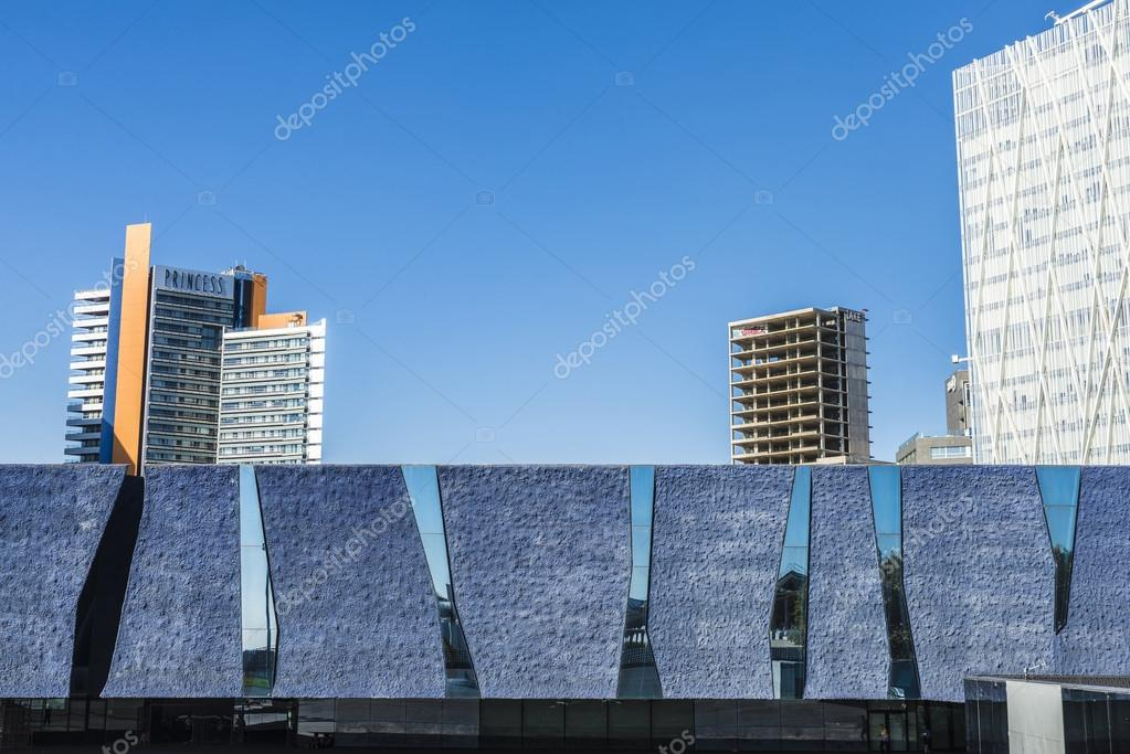 barcelona spain october 31 2015 new district with office buildings and hotels with the forum building in the foreground on the coast in barcelona - Cool Architecture Office Buildings