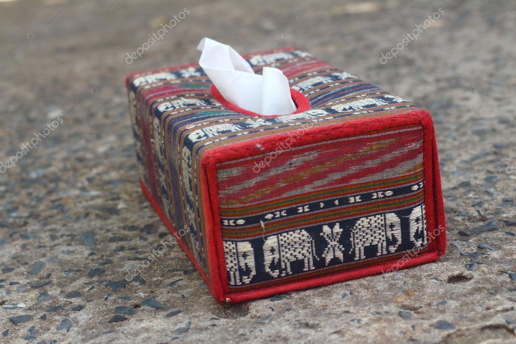 Tissue Box Elephant Is The Symbol Of Thailand Stock Photo