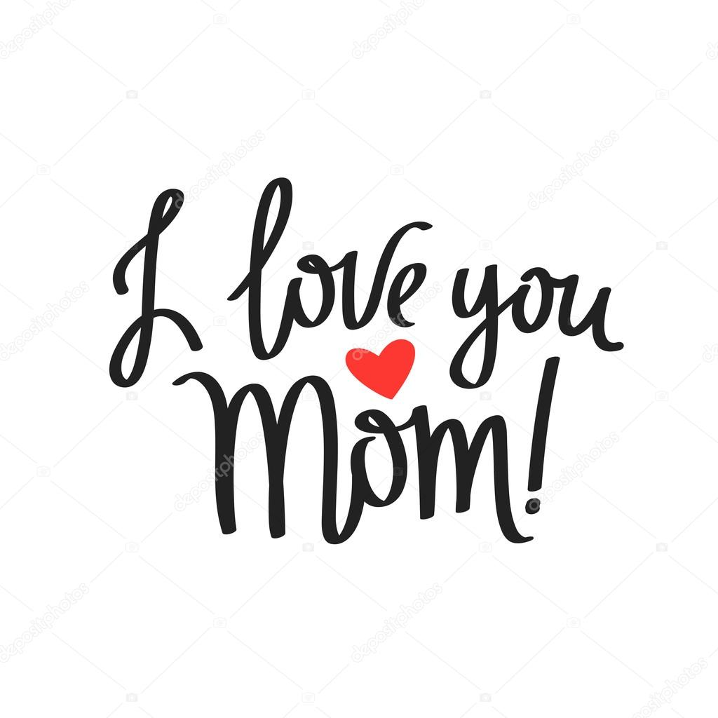 Quote I Love You Mom Stockvector Chekat 105103886