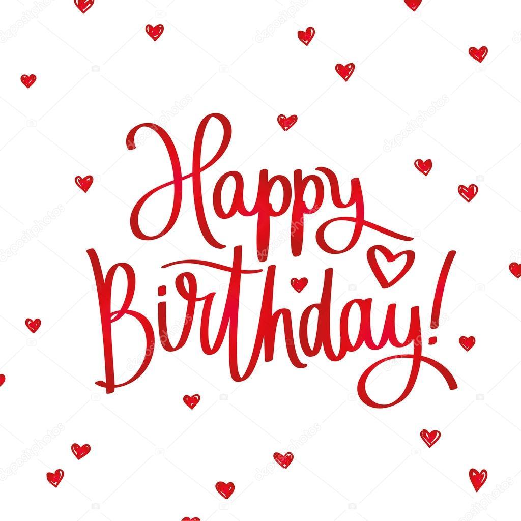 Happy Birthday Fashionable Calligraphy Stock Vector