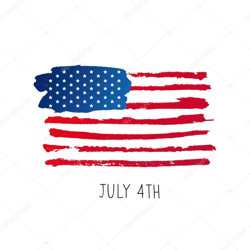 American Flag 4th Of July Stock Vector Chekat 109256908