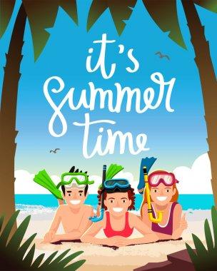 It's summertime. Happy children