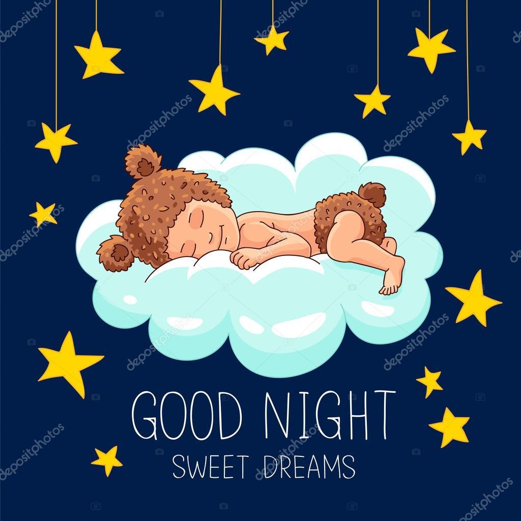 Good Night Sweet Dreams Stock Vector Chekat 116218954