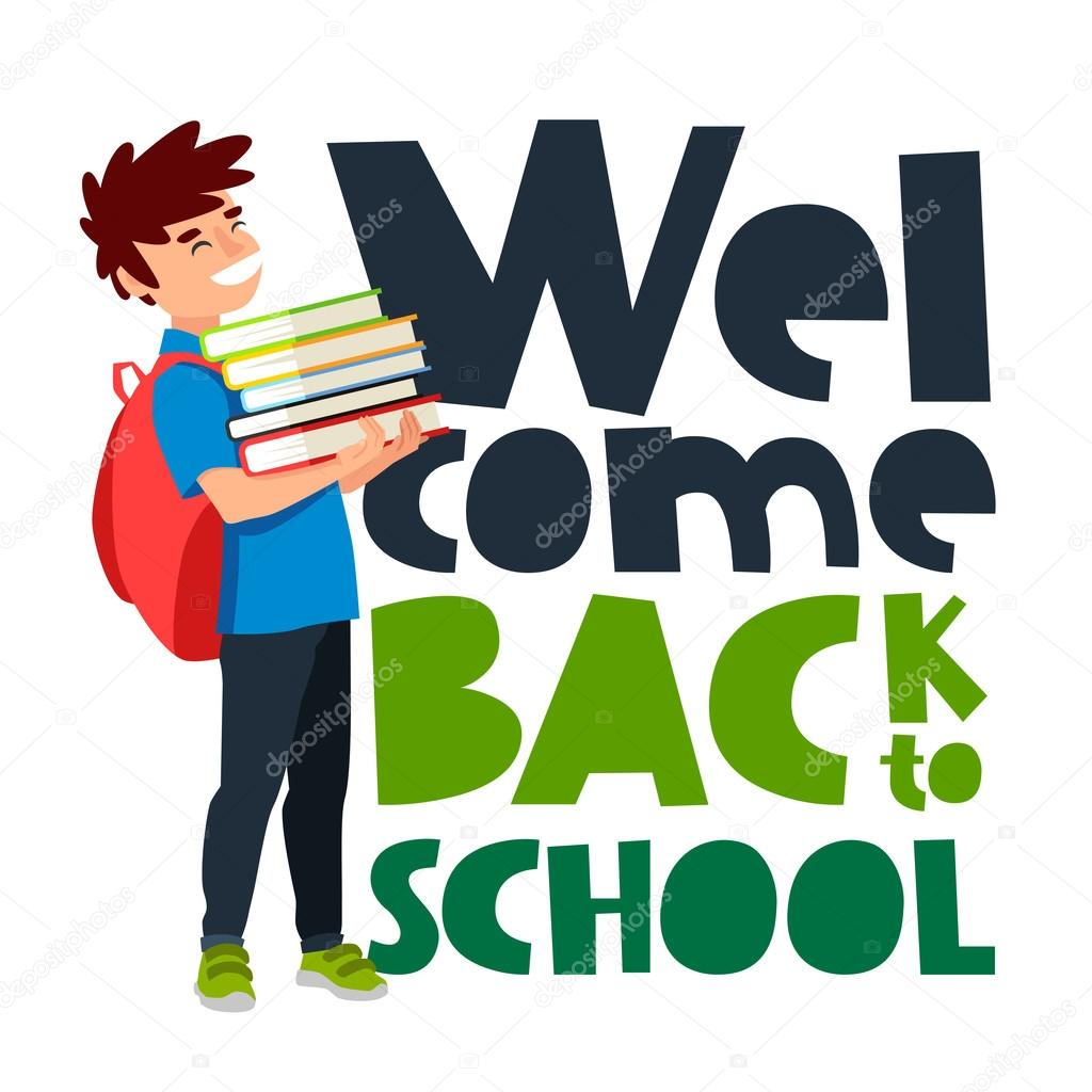 Quote Welcome Back To School U2014 Stock Vector