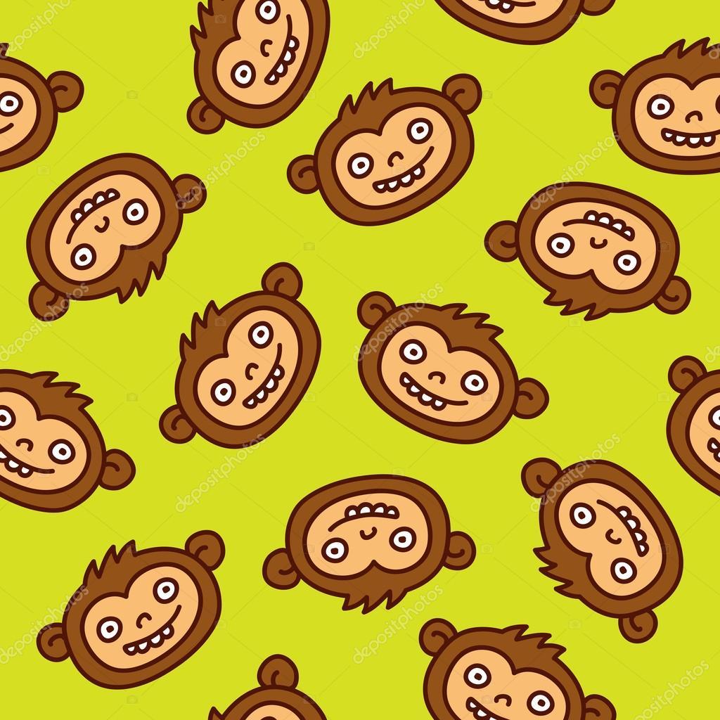 seamless Monkey pattern
