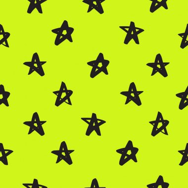 Seamless vector pattern of black stars