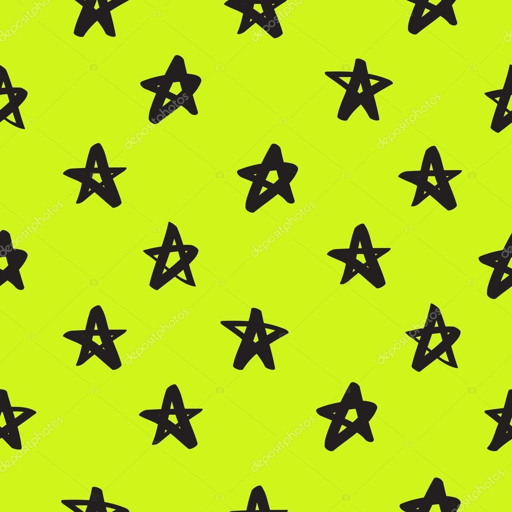 Seamless vector pattern of black stars