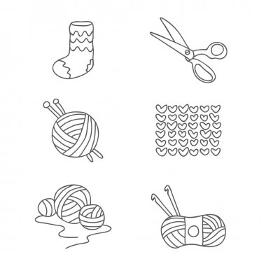 Tying. Vector icons