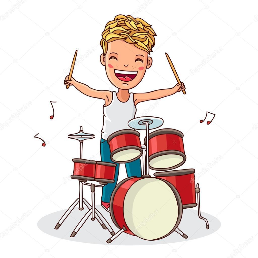 Kid Play Drum Solo