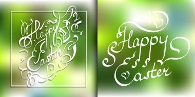 Happy Easter. Title for your design, cards or posters etc
