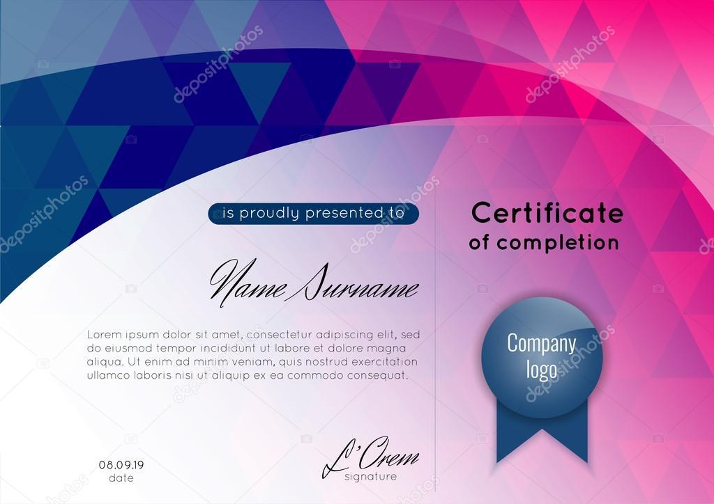 certificate of appreciation completion achievement graduation