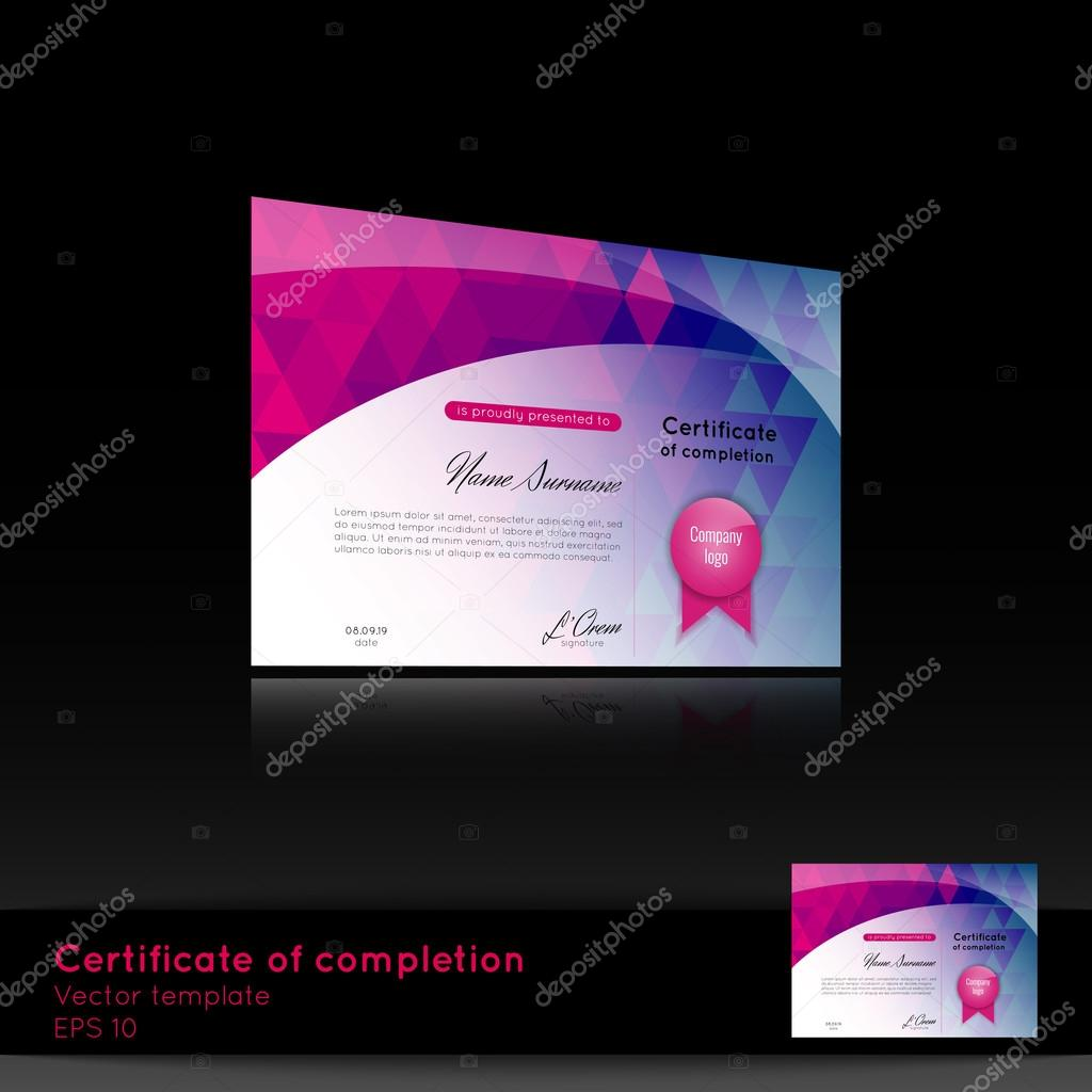 Certificate of appreciation completion achievement graduation certificate of appreciation completion achievement graduation diploma or award with the reflection on the black background stock vector yadclub Images