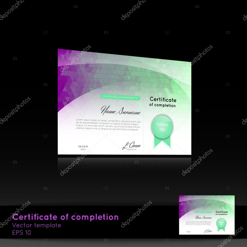 Certificate of appreciation completion achievement graduation certificate of appreciation completion achievement graduation diploma or award with the reflection on the black background stock vector yadclub Gallery