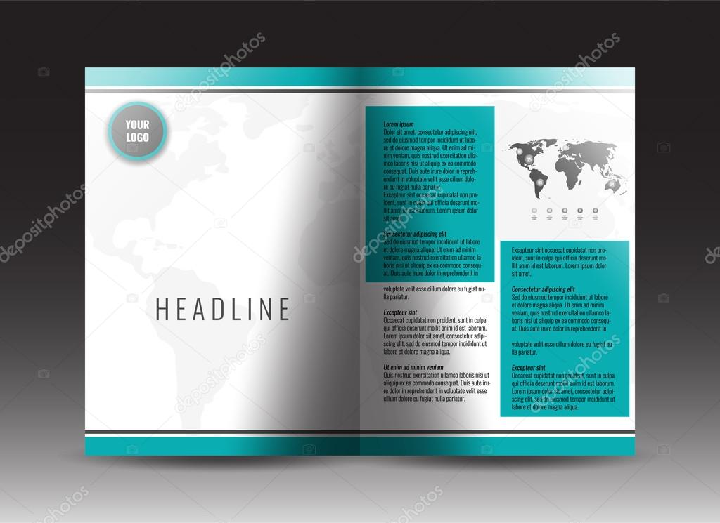 corporate bi fold brochure template design annual report presentation book cover or flyer stock vector vector by helga scandinavus