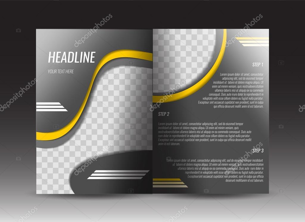 corporate brochure template design annual report presentation