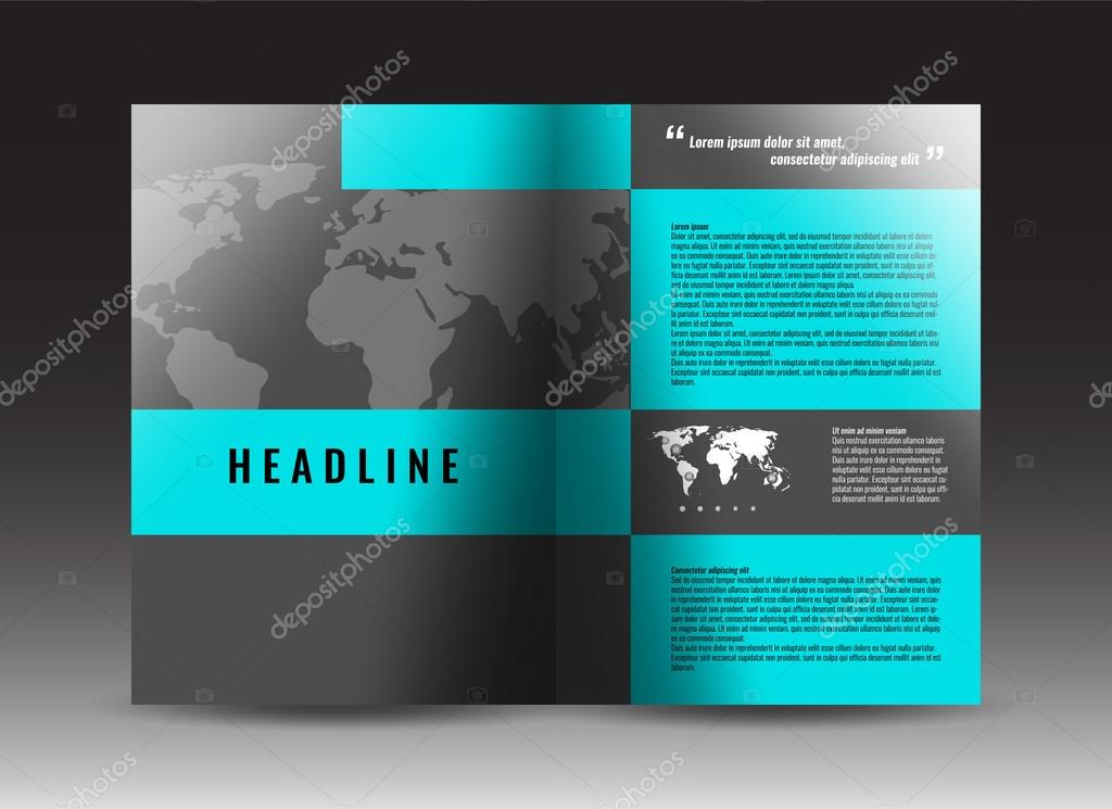 corporate brochure template design annual report presentation