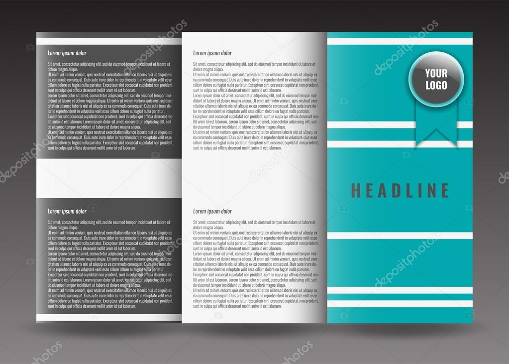 Corporate Bi Fold Brochure Template Design Annual Report
