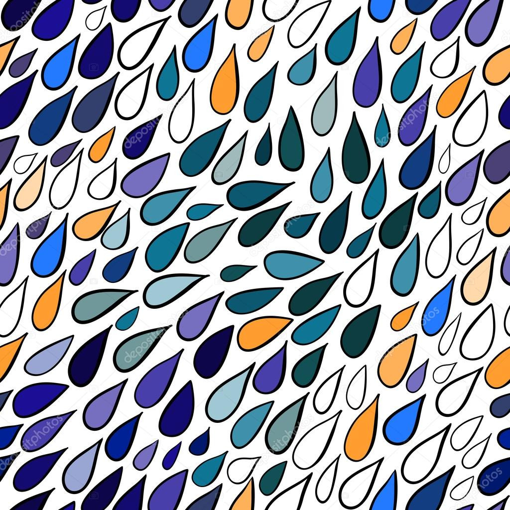 Rainy seamless pattern, abstract rainy pattern