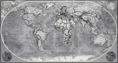 Map of planet earth