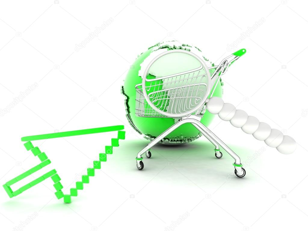 Online order 3D rendering online order 3D rendering — Stock Photo ...