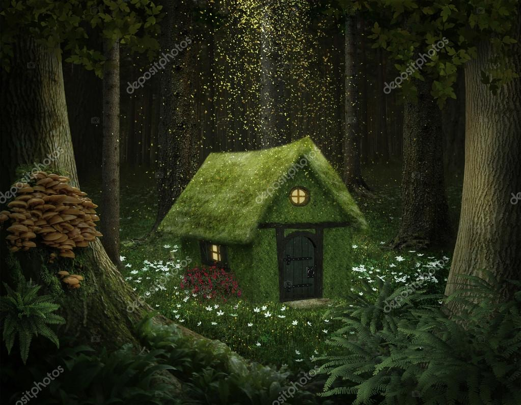 Fantasy house of moss