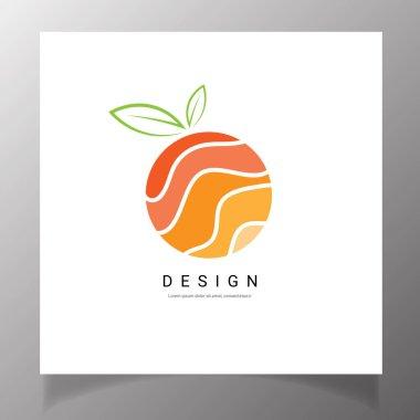 Orange fruit logo brand design vector icon