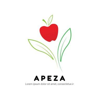 Apple fruit logo brand design for company brand icon
