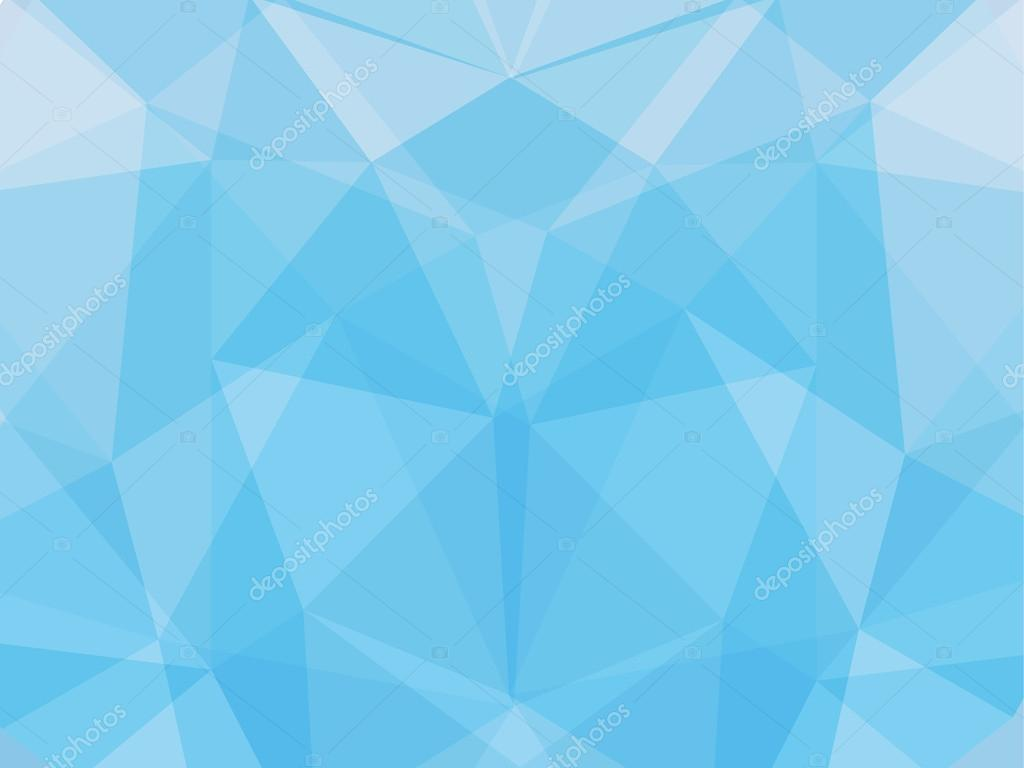 Triangle Abstract Background Of Light Blue Stock Vector