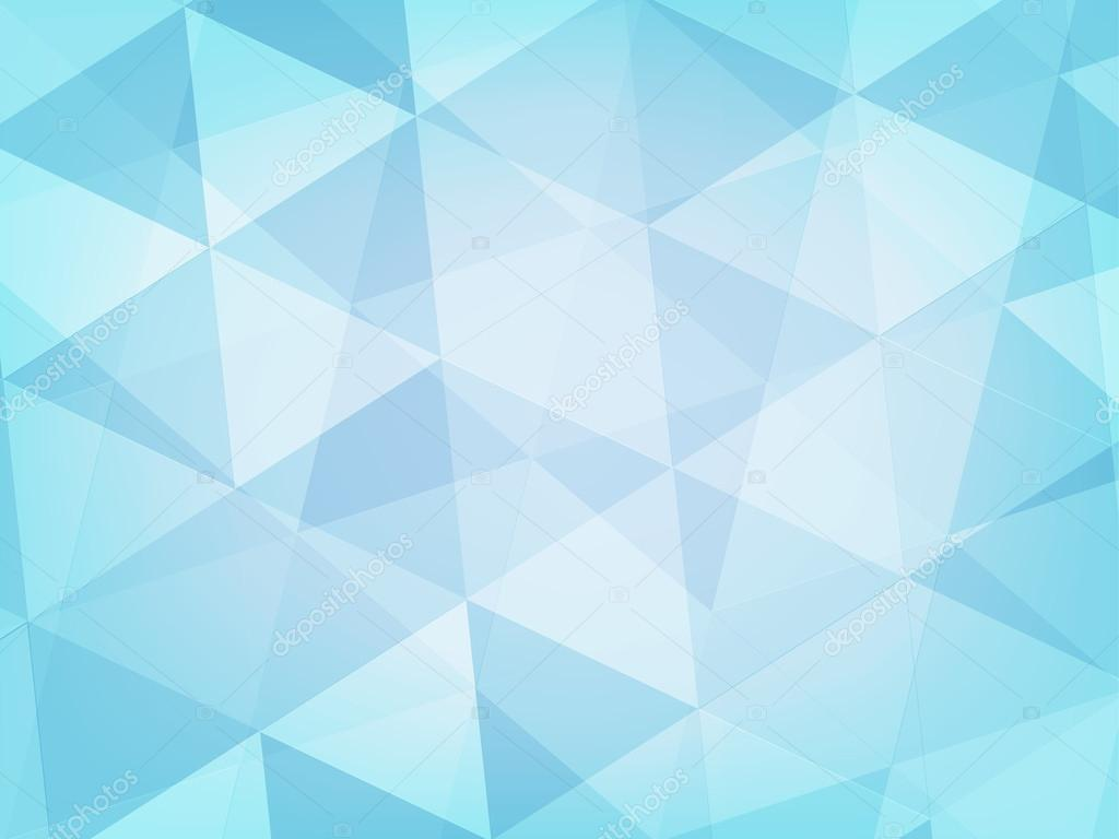 Abstract Background Light Blue Triangle Style Stock Vector