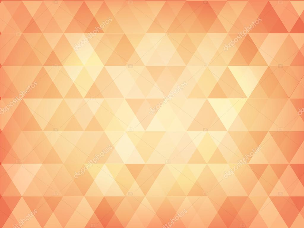 Triangle Abstract Background Of Pastel Orange Stock Vector