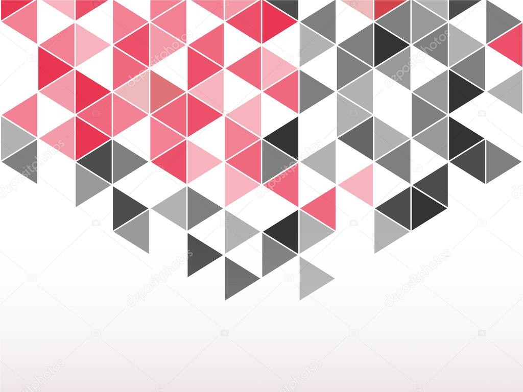 Black And Red Triangle Abstract Background