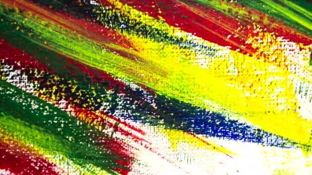 Fényes változatos sokszínű háttér ecsetvonások különböző festékkel