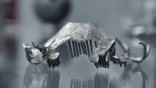 3D model for dental printed on 3d printer for metal close-up.