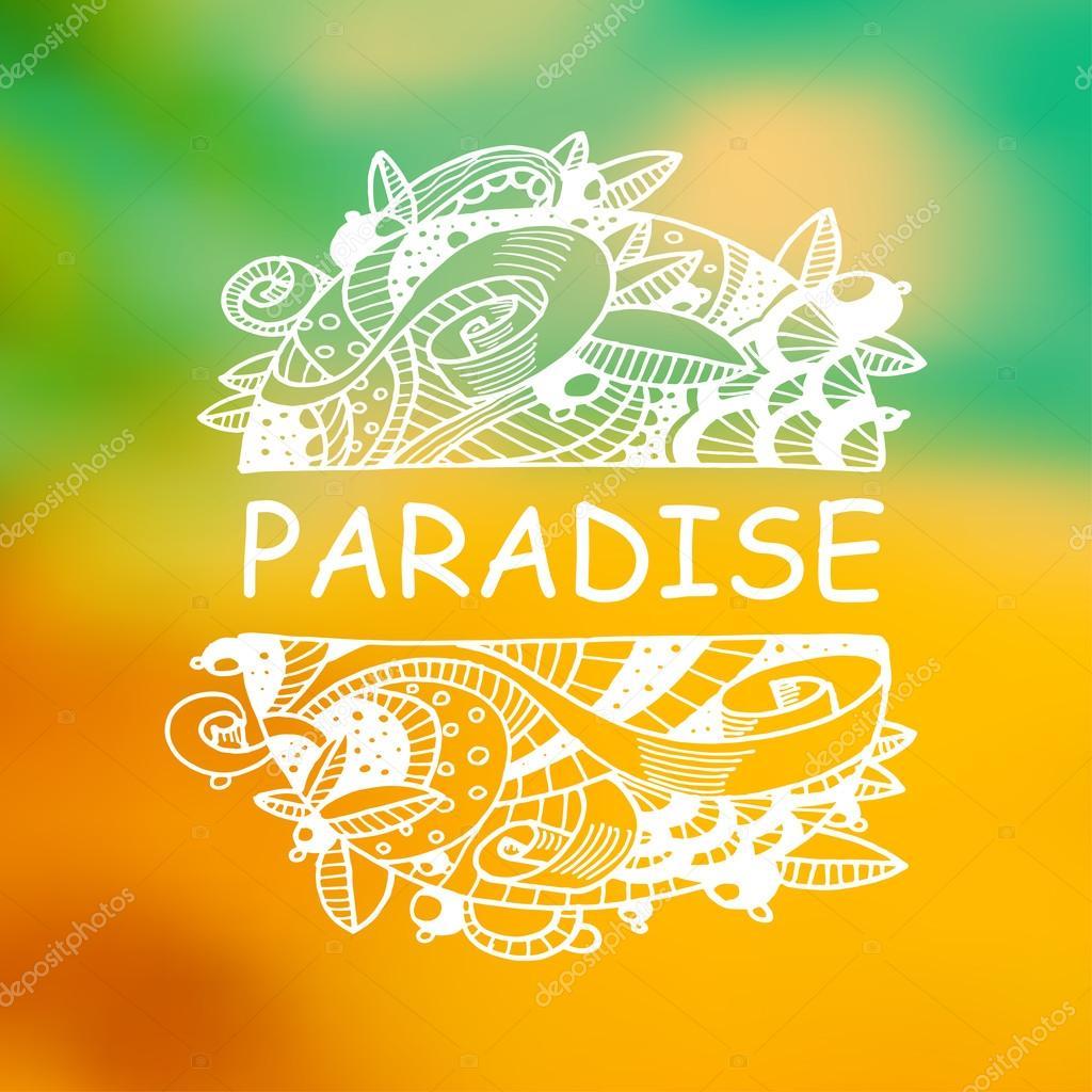 Paraíso blanco zentangle — Archivo Imágenes Vectoriales ...