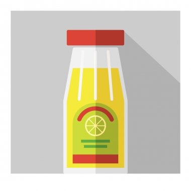 Vector color flat bottle template